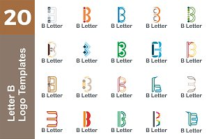 20 Logo Letter B Templates Bundle