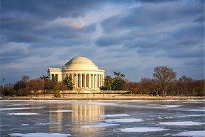 Jefferson Memorial at winter