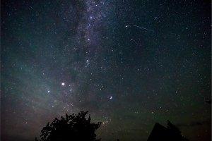 Night sky and milky way
