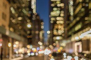 Blurred street view at night