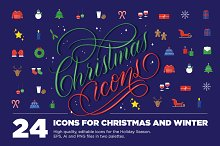 24 Christmas Icons by  in Icons