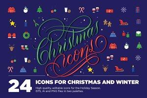 24 Christmas Icons