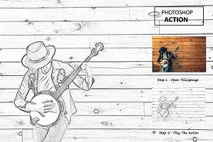 Photo Sketch - Photo shop Action
