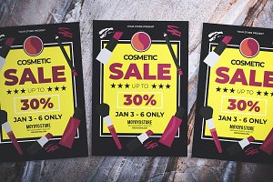 Cosmetic Sale Flyer