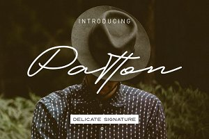 Patton Delicate Signature Typeface