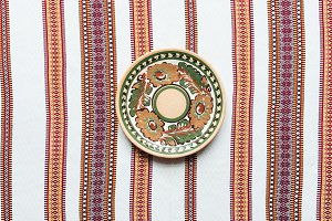 top view of plate with traditional o