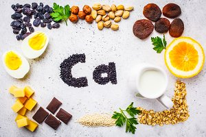 Healthy products sources of calcium.