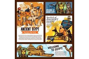 Egypt ancient symbols, travel