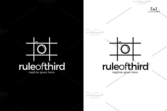 Rule Of Third Logo in Logo Templates - product preview 3