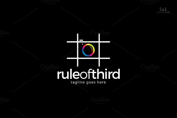 Rule Of Third Logo in Logo Templates - product preview 2