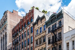 Typical buildings in Soho, New York