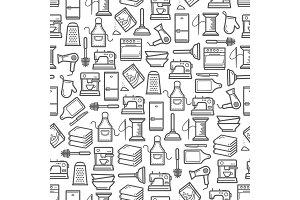 Appliance utensil seamless pattern