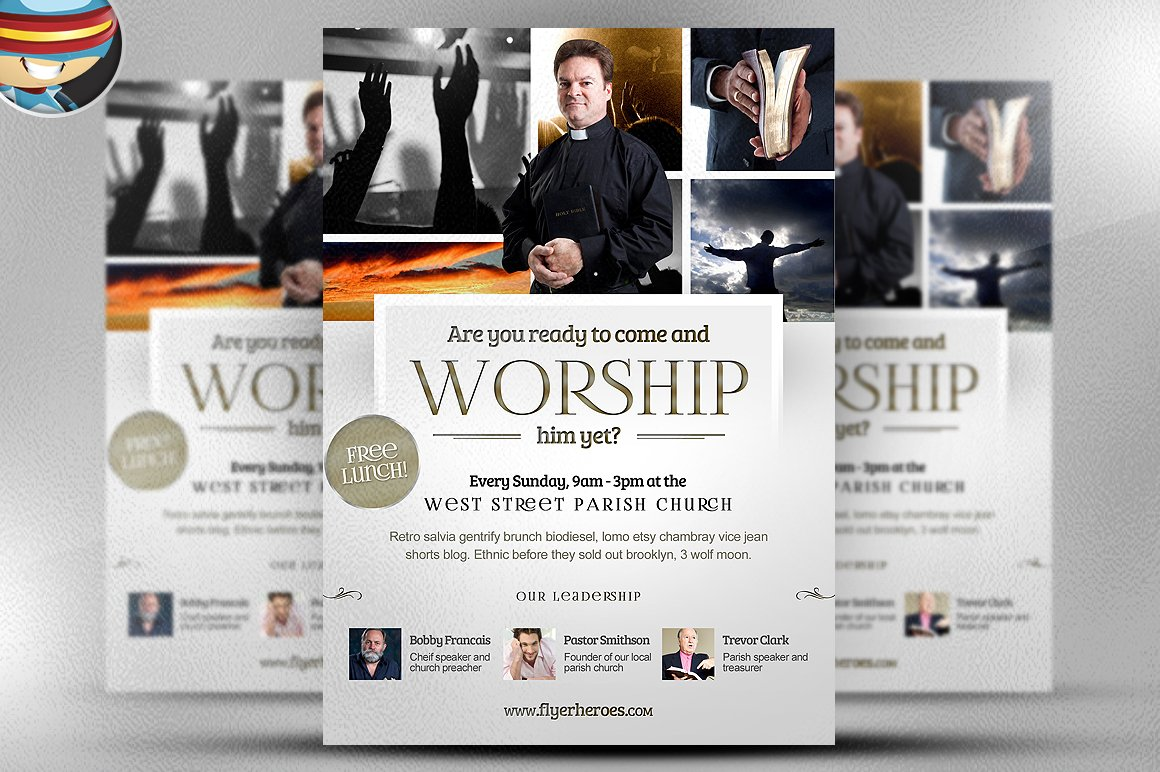 Worship church christian flyer flyer templates for Religious flyers template free