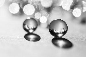 Little glass balls in direct sunligh