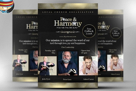 Peace and Harmony Flyer Template Flyer Templates on Creative Market – Harmony Flyer Template