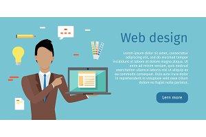Web Design Vector Web Banner in Flat