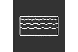 Memory foam mattress chalk icon