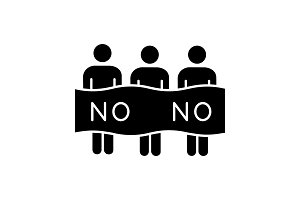 Protest event glyph icon