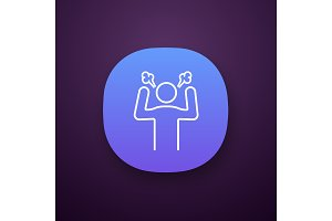 Angry person app icon