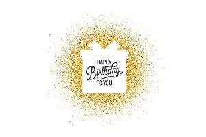 Birthday lettering gift box.