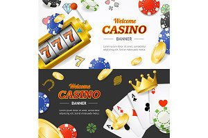 Casino Concept Banner Card