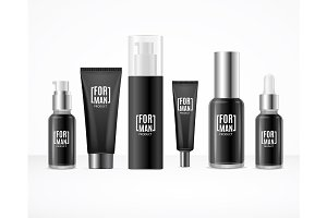Black Blank Cosmetic for Man