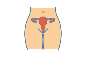 Female reproductive system icon