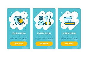 Dental Health App Screens Web Banner