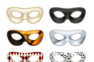 Bright colorful masquerade masks