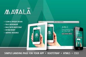Mavalà - Simple Landing Page