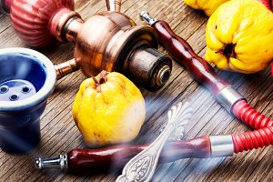 Turkish hookah with aroma quince