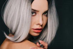 Beautiful woman in wig