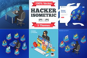 Hacker Activity Isometric Concepts