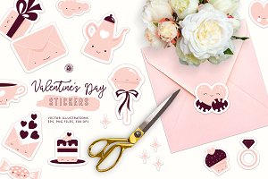 Cute Valentine's Day Stickers