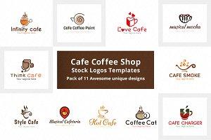 Cafe Coffee Shop Stock Logo Template
