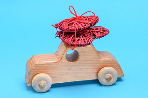small wooden children's car