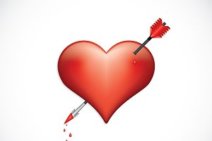 Heart pierced with arrow