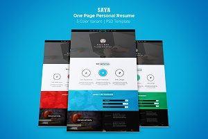 Saya One Page Personal PSD Template
