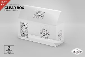 Clear Box Packaging Mockup