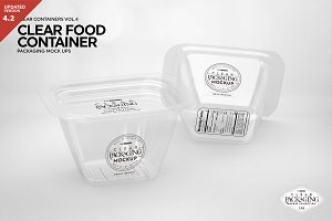 Clear Container Packaging Mockup