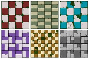 large set of stone tile textures