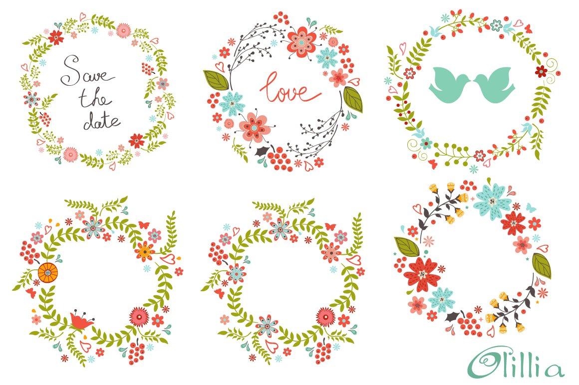 Floral frames ~ Illustrations ~ Creative Market
