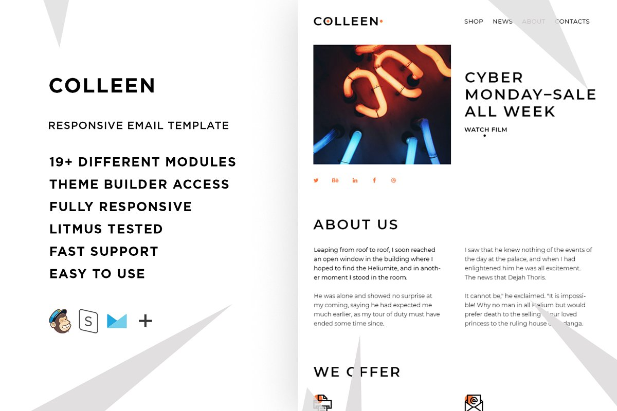 Coleen – Email template + Builder