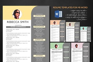 Unique 3 in 1 Word resume template
