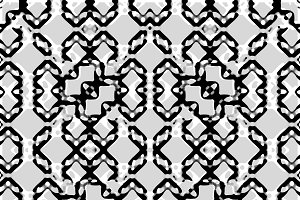 Black and White Intricate Modern Geo
