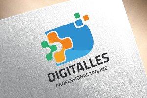 Letter D - Digitalles Logo