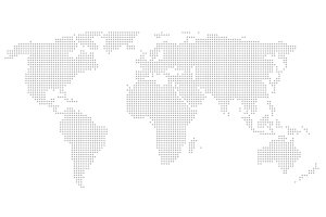Dotted world map. White background