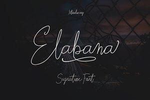 Elabama - Signature Font