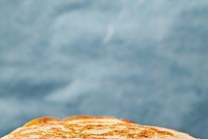 Staple of yeast pancakes, traditiona