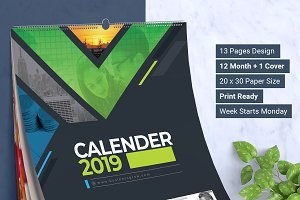 2019 Wall and Desk Calendar Design